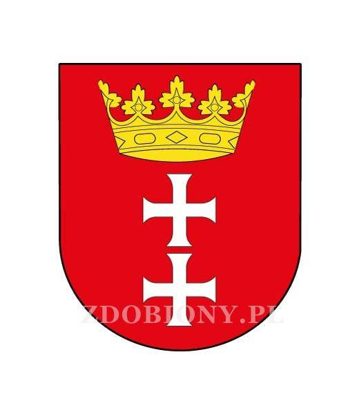 Naklejka herb Gdańska